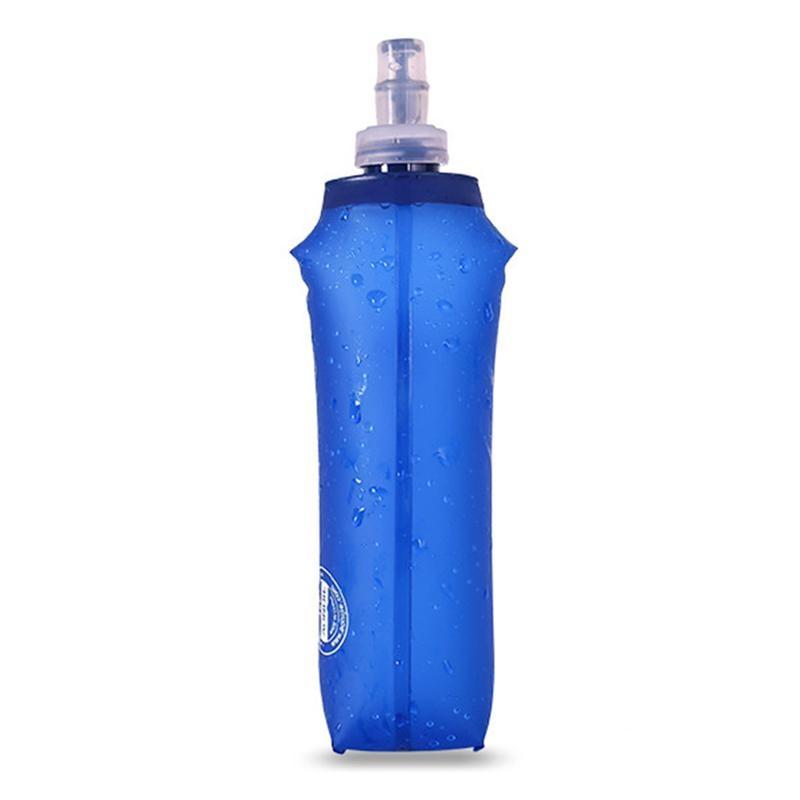 MeterMall 250ML 500ML Soft TPU Foldable Sports Water Bottle for Running Camping Hiking BPA PVC Free Water Bag in Water Bags from Sports Entertainment
