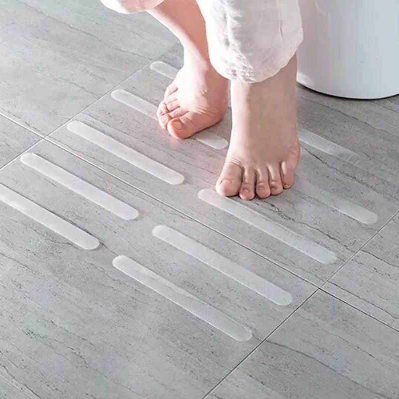 Banyo kaymaz duş çıkartmaları pratik şeffaf banyo kaymaz güvenlik şeritleri Mat küvet duş merdiven zemini