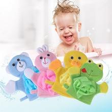 Мягкие Детские банные щетки, полотенца, Мультяшные животные, форма рукавицы для душа, Мочалка для купания, Детская мойка, чистый душ, массаж