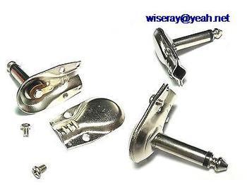 DHL/EMS 250pcs lot Right Angle Jack Connectors Mono 6.35mm Male Plug Pancake 1/4 inch Plug-A7