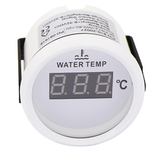 52 Mm Universele Water Temperatuur Gauge Voor Boot Auto Thermometer Water Temp Meter Indicator Turbo Boost 12V 24V