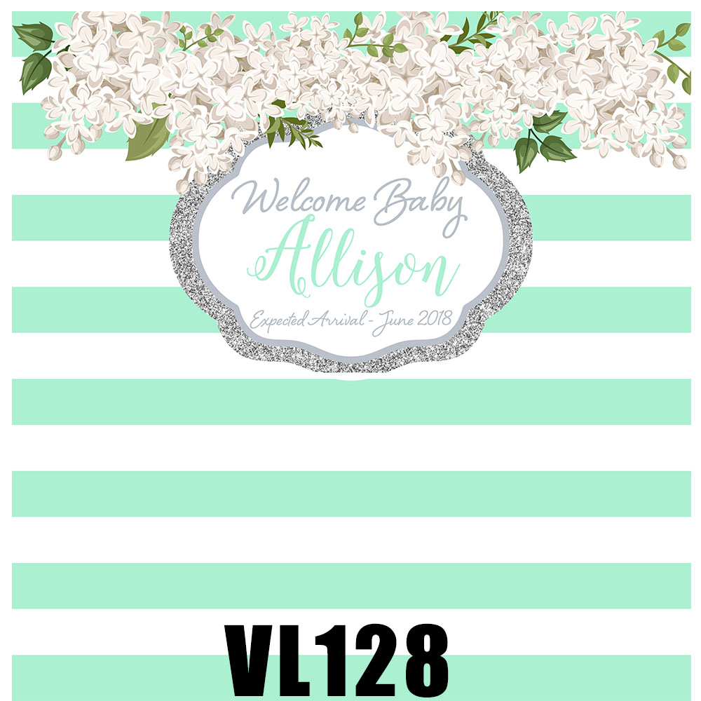 Mint Green White Stripes Wedding Photo Backdrop Customize Bridal Banner Background Party Supplies Photo Props Vl128 Background Aliexpress