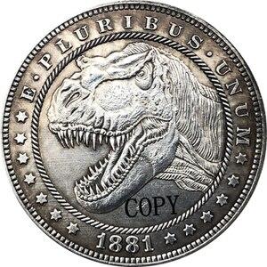 Hobo никелевая монета 1881-CC США Morgan Dollar, копия типа 168