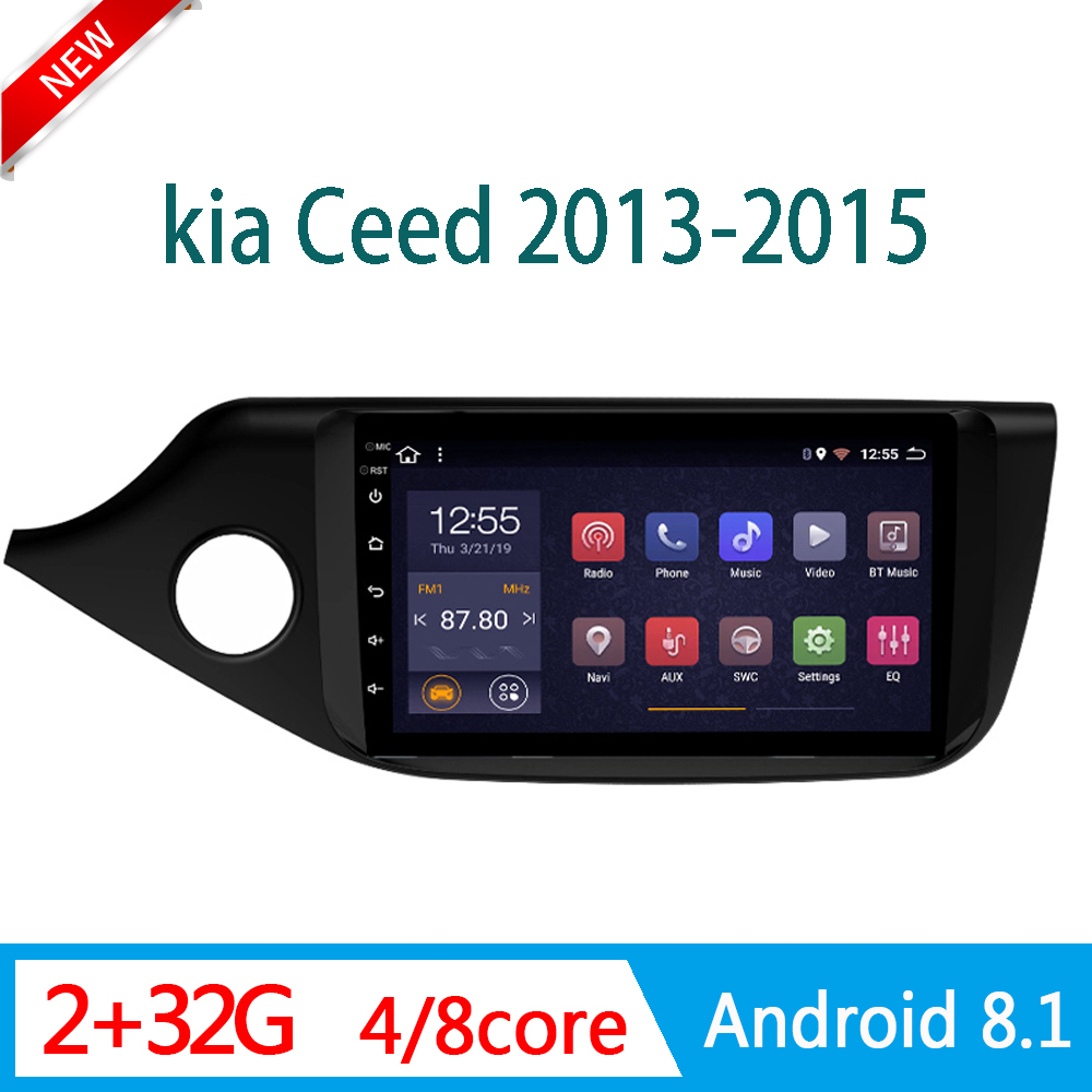 2GRAM auto radio For KIA Ceed 2013-2015 DVD multimedia player video audio GPS Navigator WIFI 2.5D DVR Mirror link 1 din Android image