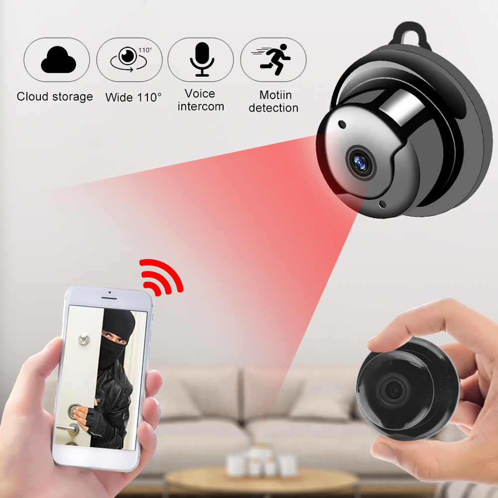 Baby Monitor Camera Wifi-Detect Surveillance Night-Vision Mini 720P Home-Security 1080P title=