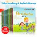 60 книга/комплекты Для детей обучения английские слова картина чтения книги для детей история предназначены для чтения предварительно к обу...