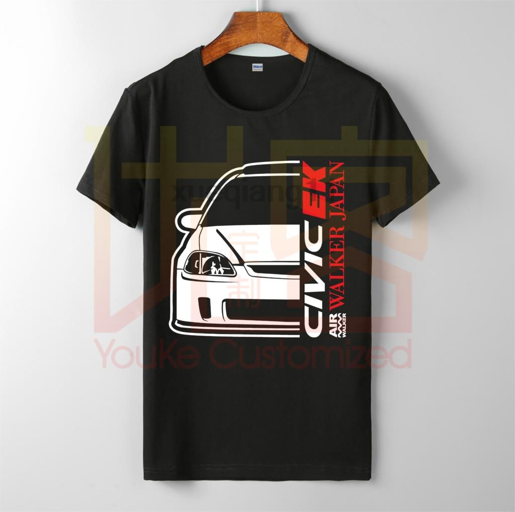 Honda Civic EK Walker Japan Front Shirt 2019 Fashion All Sizes Men's Brand O-neck 100% Cotton Custom Printed T-shirt Tops Tee