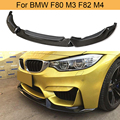 Carbon Fiber Front Bumper Lip for BMW F80 M3 F82 M4 Sedan Coupe Convertible 2014-2019 Car Front Lip Chin Spoiler Extension
