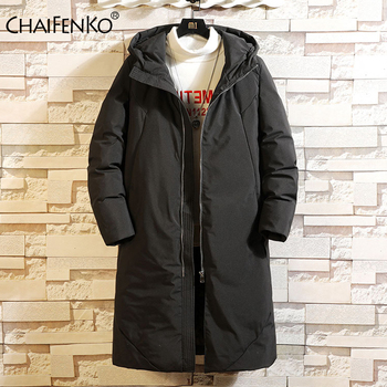 2020 New Clothing Winter Down Jacket Men Business Long Thick Winter Coat Men Solid Fashion Outerwear Warm Long Men Down Jacket
