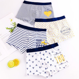 Pure Cotton Boys Boxer Underpants Cozy Boy Panties Big Childrens Shorts Children's Underwear Mid and Small Children Panty 1 Pce