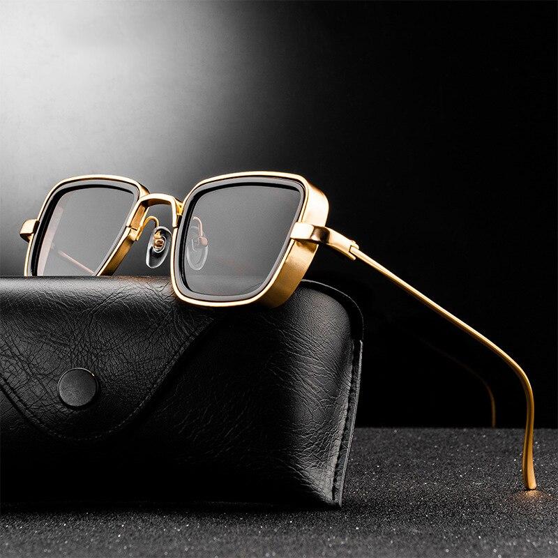 Классические модные брендовые дизайнерские солнцезащитные очки в стиле стимпанк для мужчин и женщин, винтажные зеркальные очки в металлич...