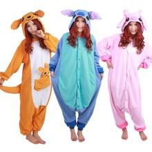 Winter Animal Pajamas Kigurumi Cartoon Onesie Stitch Sleepwear Homewear Nightie Cute Women Men Girls Pajama  Sets