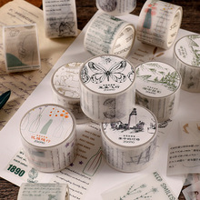 Corner Story Collection Series Sticker Sulfuric Acid Paper Tape Plant Text Hazy Cute Hand Account Decoration DIY School Supplies