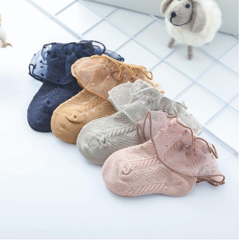 Newborn Socks Toddler Baby Princess Girls Cotton Socks Lace Ruffle Frilly Socks