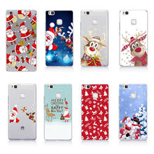 Christmas Gift TPU Coque For Huawei P30 P 30 Pro Lite Case Sant Claus For Huawei Y5 Y6 Prime 2018 P Smart 2019 Mate 20 Lite Case(China)