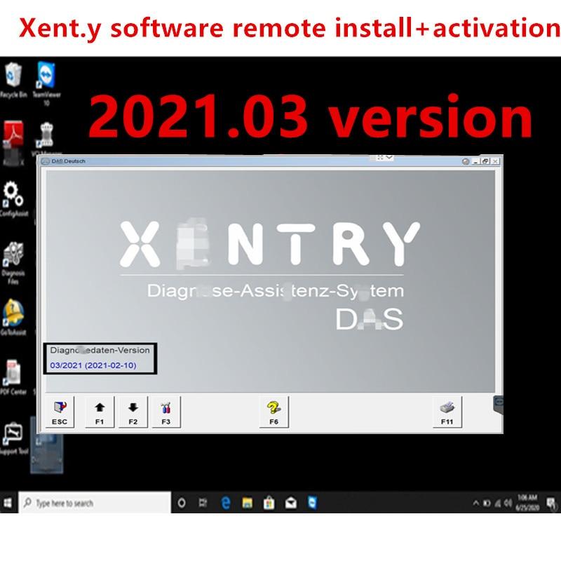 Versão mais recente 2021.03 xentry software instalar e ativação remoto win10 64bit profissão sistema mb estrela sd c4/c5/c6 software