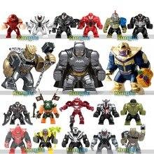 Marvels Big Figures Super Heroes Kids Toy Avengers Batman Cull Obsidian Venom Thanos Model Building Blocks Enlighten Brick Toys стоимость