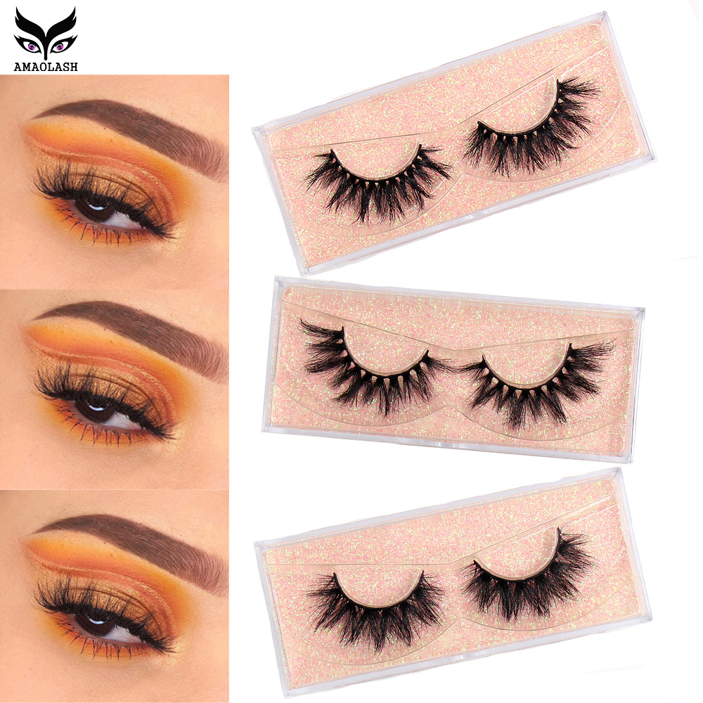 AMAOLASH Makeup  3D Mink Eyelashes 3D Natural False Eyelashes Mink Lashes Soft Eyelash Extension High Volume Soft Lashes