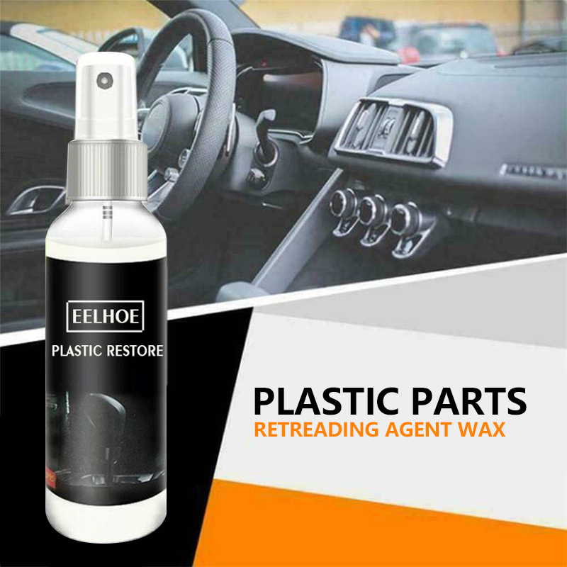 Hot 30ml Car Plastic Parts Retreading Agent Wax Instrument Panel Auto Interior Auto Plastic Renovated Coating Car Cleaner TSLM1