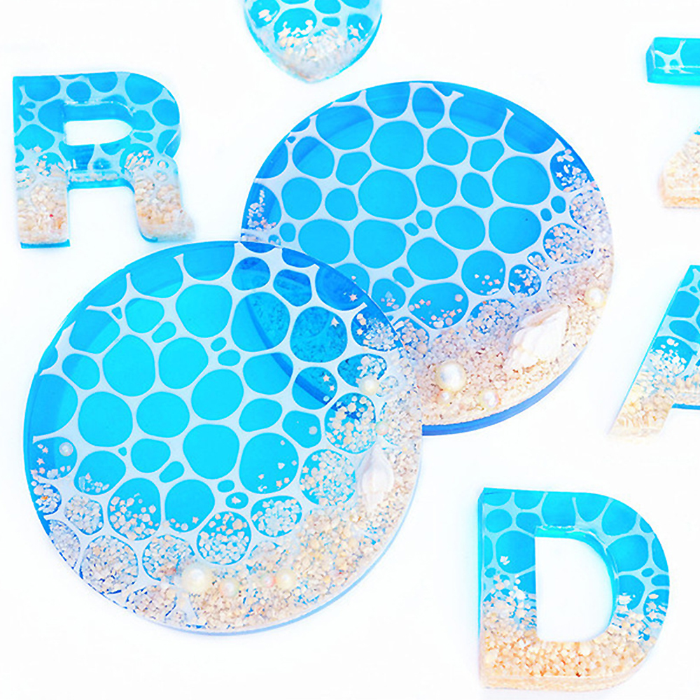New 1pc Ocean Crystal UV Epoxy Resin Mold DIY Crafts Water Ripple Silicone Mould Jewelry Making Tools Party Home Decoration 3