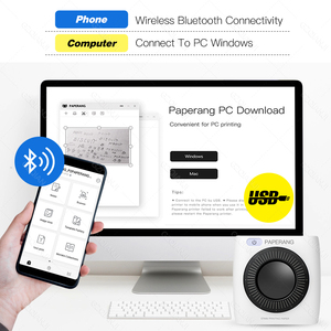 Image 4 - Tasca Mini Stampante Fotografica Portatile Stampante Termica Bluetooth Etichetta Adesiva Macchina per il Mobile Android iOS Finestre PAPERANG P2