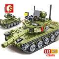 SEMBO 324 stücke Military Sets Kampfpanzer ww2 Bausteine Waffe Figuren Armee Stadt Erleuchten Ziegel Spielzeug Für Kinder geschenk
