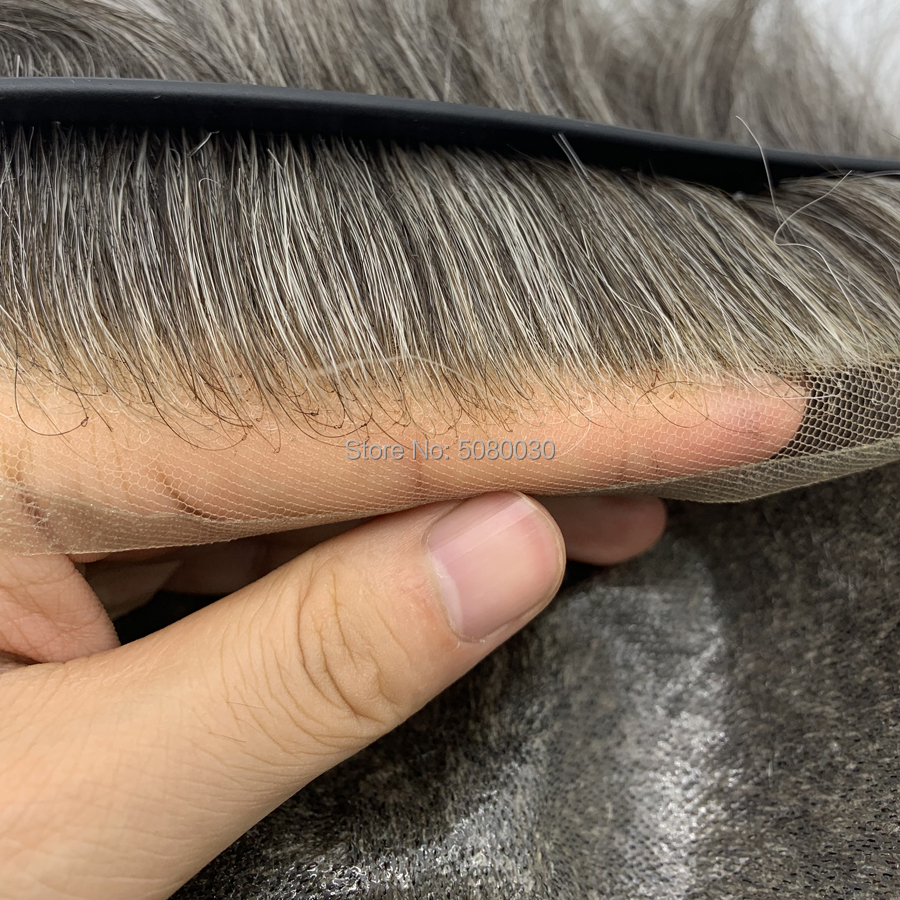 Professional And Exquisite Hand-made Top PU And Front Lace Human Hair Men's Toupee With Wholesale Price