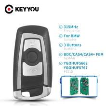 KEYYOU klucz zdalny Smart 3/4 przyciski YGOHUF5662 / YGOHUF5767 315MHz 434MHz 868 MHz dla BMW 5 7 F seria FEM / BDC CAS4 2009-2016
