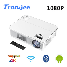 TRANSJEE 1080P LED Full HD Support 4K Projector for Smartphone Android Film