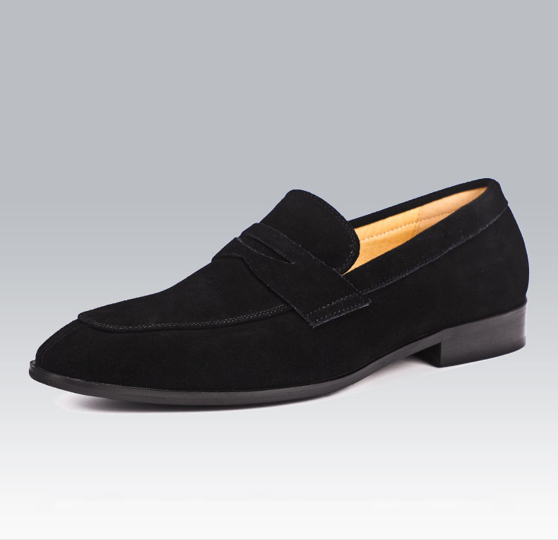 2019 Fashion Suede Loafers Shoes Men Flat High Quality Oxford Shoes For Men Genuine Cow Leather Mans Wedding Office Casual Shoes in Men 39 s Casual Shoes from Shoes