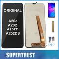 Original Für Samsung Galaxy A20e A202 A202F A202DS LCD Display Touch Screen Sensor Glas Digitizer Montage Schwarz + Kits|Handy-LCDs|Handys & Telekommunikation -