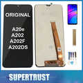 Originale Per Samsung Galaxy A20e A202 A202F A202DS Display LCD Touch Screen Sensore di Vetro Digitizer Assembly Nero + Kit