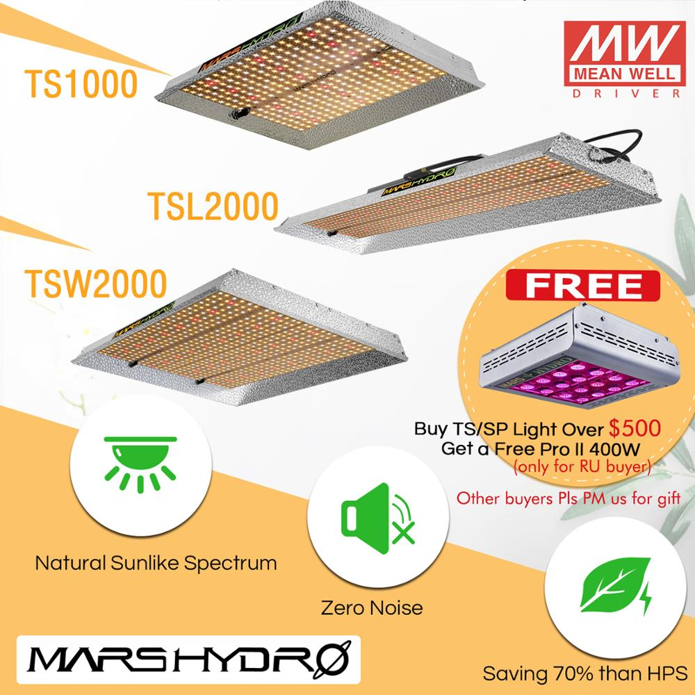 2019 Mars Hydro TS 1000W 2000W 3000W LED Grow Light Lamp Sunlike Full Spectrum Indoor Plants Veg Flower Hydroponics Graden