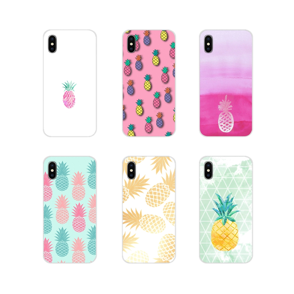 Accessories Phone Shell Covers For Xiaomi Mi4 Mi5 Mi5S Mi6 <font><b>Mi</b></font> A1 A2 A3 5X 6X 8 CC <font><b>9</b></font> T Lite <font><b>SE</b></font> Pro Pink Pineapple Summer image