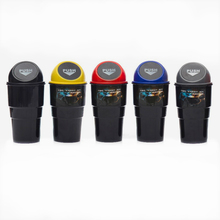 Car Trash Garbage Can Autobiles Trash Dust Case Holder Bin Box Car-styling Can Rubbish Box Dust Case Holder Car Trash tanie tanio Rolling typu pokrywy ROUND Przechowywania wiadro Black Gray Blue Yellow Red Garbage Dust Case Holder Auto Dust Bin Door Trash Box