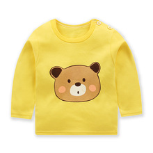Children Shirts Spring Autumn 2019 New Style Tops Baby Kids Underwear Boy And Girl Long Sleeve Clothes