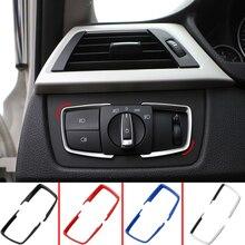 Zlord ABS Car Head Light Switch Frame Trim Adjustment Stickers for BMW F30 F31 F32 F34 3 4 Series 320i 328i Accessories