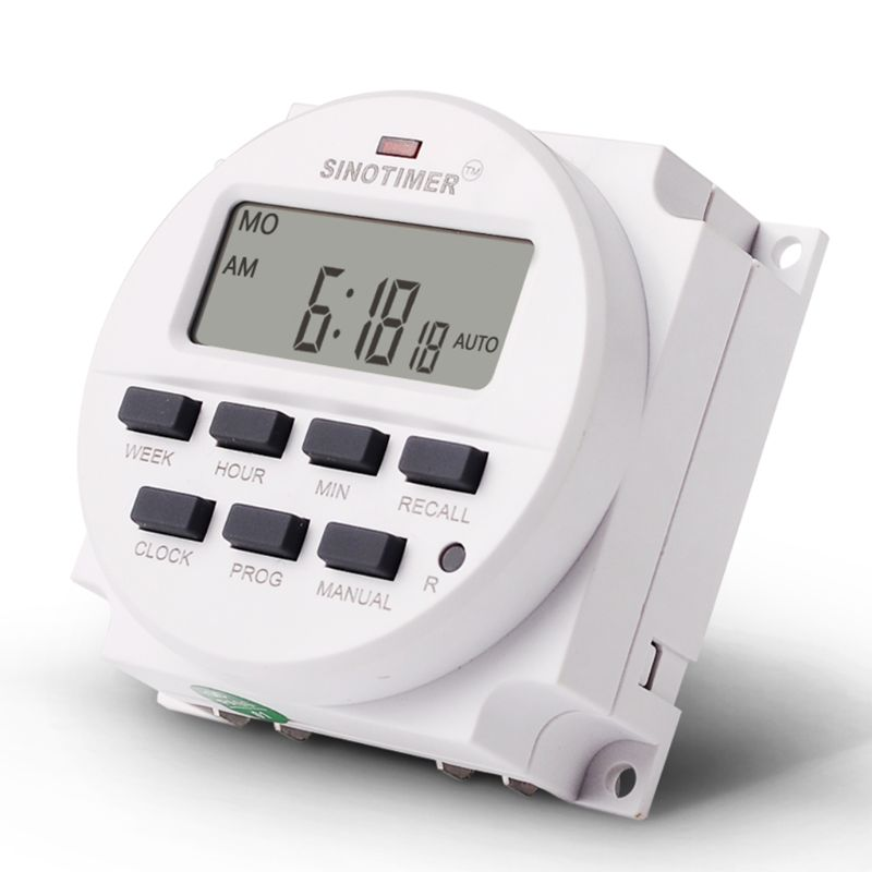 BIG LCD Digital 220V Programmable Timer Switch with Countdown Time Function
