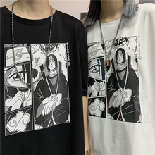 Uchiha Print men T shirt Oversized Couple Tops 2019 New Japan  Clothes Plus size Summer anime naruto Cotton Polyester streetwear