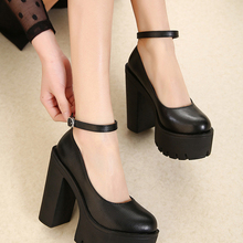 Platform Pumps High-Heeled shoes Spring Gdgydh Sexy Black White Autumn Casual Size-42
