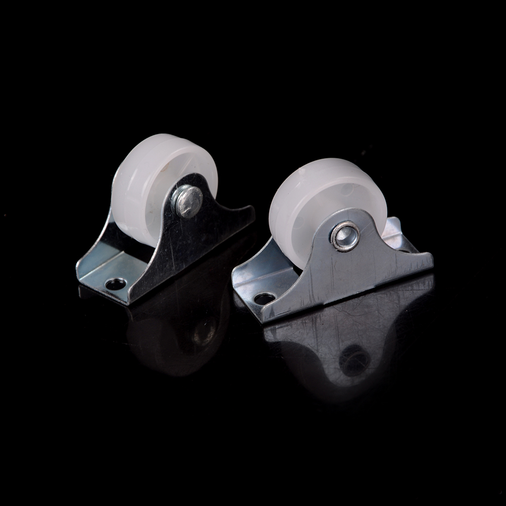 2 Pcs White Plastic Furniture Replacement Caster Wheel Universal Swivel Casters Roller Wheel For Platform Trolley Chair