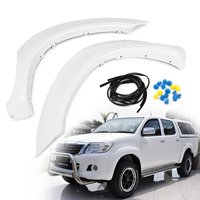 1 Pair New White Front for Fender Flares For Toyota Hilux 2005 2006 2007 2008 2011 for Fender Fares Exterior Parts Mudguards