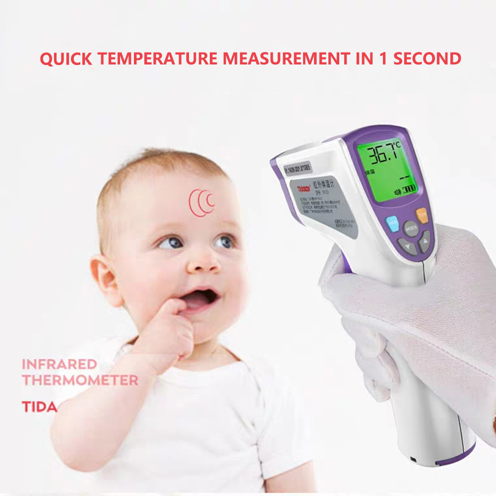 Digital LCD Temperature Meter Infrared Thermometer Non-Contact Handheld Temp Tester 35~40 Celsius Infrared Body Thermometer