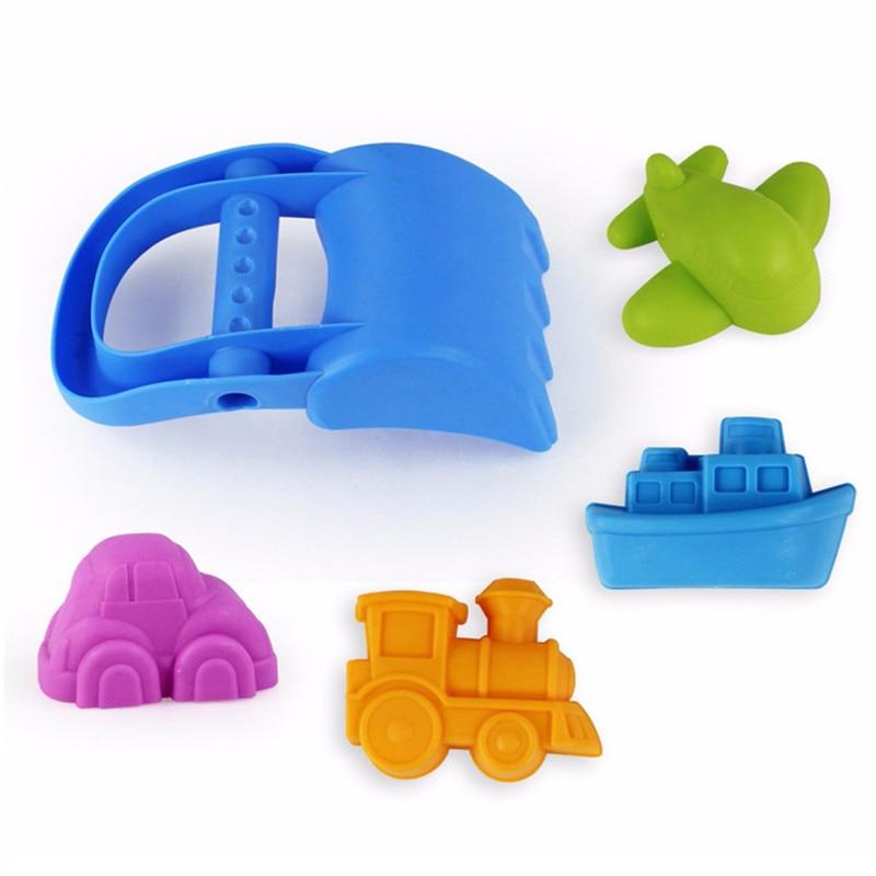 New Arrival Fashion Design Beach Spade Shovel Rake Water Tools Toys For Infant Kids 5Pcs/Set Colorful Sand Beach Kids Toys Gift