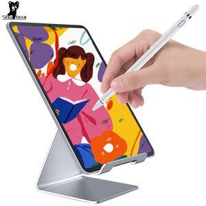 Image 1 - Evrensel Stylus dokunmatik kalem iPad Tablet cep telefonu kapasitif ekran Stylus kalem iPhone Huawei Xiaomi tabletler şarj edilebilir