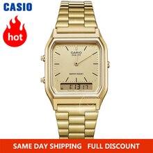 Casio שעון זהב שעון גברים המותג העליון מותרות תצוגה כפולה קוורץ גברים דיגיטליים לצפות גברים צבא ספורט Wrist Watch relogio masculino reloj hombre erkek kol saati montre homme zegarek meski AQ 230