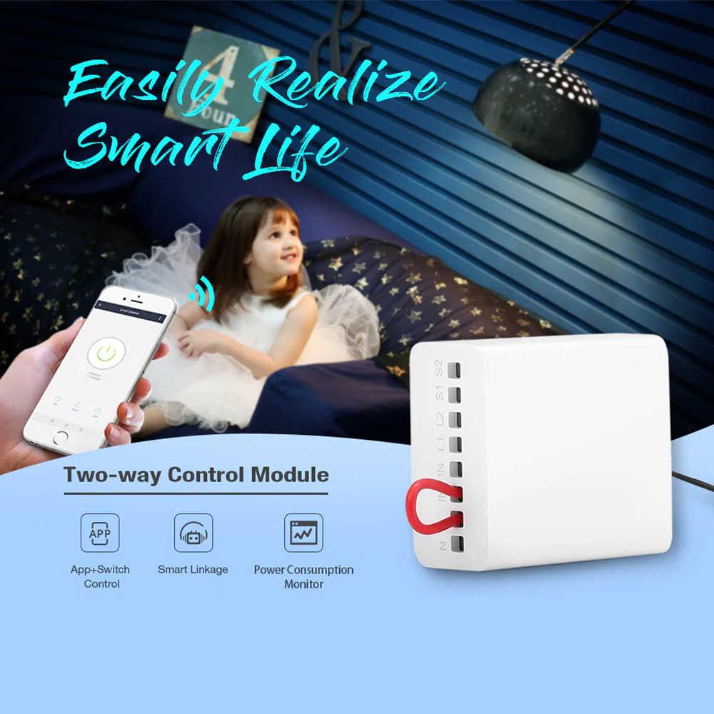 Módulo de Control de vía dual Aqara LLKZMK11LM, controlador de Relé inalámbrico de 2 canales para aplicación Mijia y Kit de módulo de Control de casa