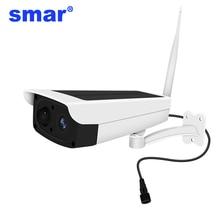 1080 720pソーラーカメラ屋外防水セキュリティカメラ2MP wifiワイヤレスipカメラ内蔵7650mA 18650バッテリーサポート64グラムtf