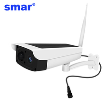 1080P telecamera solare esterna impermeabile telecamera di sicurezza 2MP Wifi telecamera IP Wireless integrata 7650mA 18650 supporto batteria 64G TF