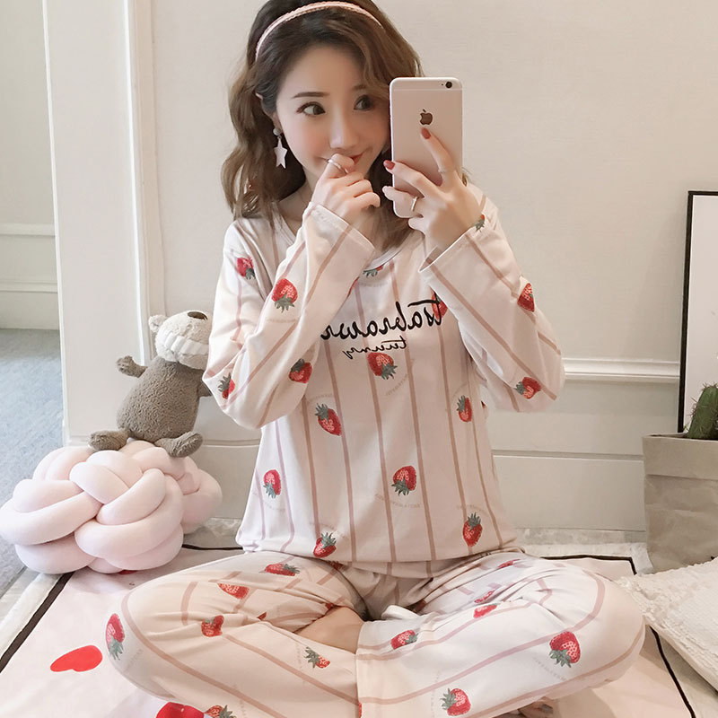 Pregnant Women Confinement Clothing Qmilch Double Long 180 Grams Japanese Korean Hoodie WOMEN'S Pajamas Maternal Lactation Garme